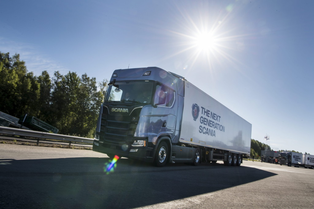 Press test and drive, Next Generation Scania Södertälje, Sweden Photo: Dan Boman 2016